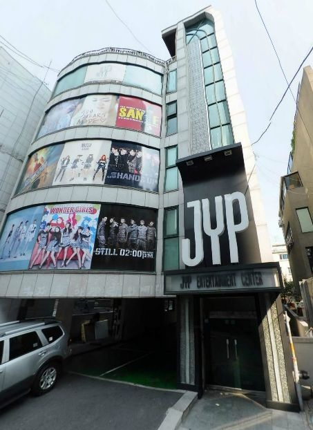 JYP looks like a movie theater. What's playing? The Wonder Girl's movie, of course!