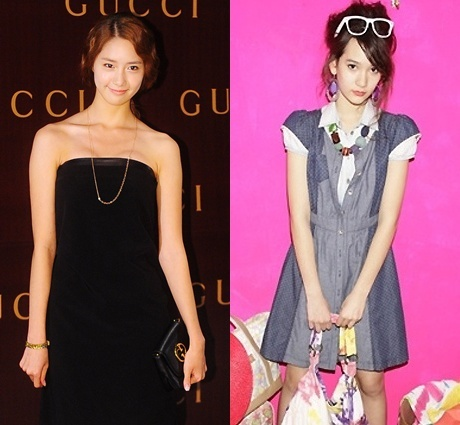 f(x)'s Krystal Looks More Like SNSD's Yoona than her Real ... F(x) Krystal And Yoona