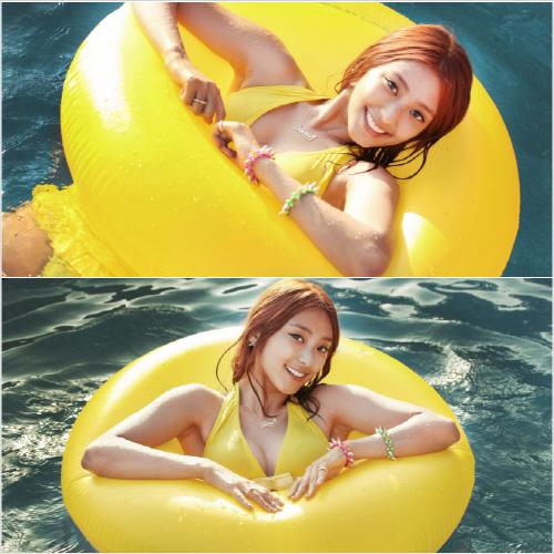 SISTAR Bora in a Yellow Bikini for Loving U