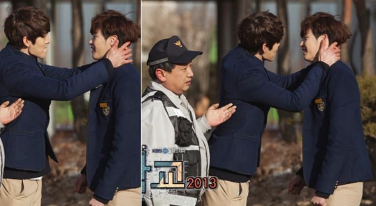 will kim woo bin and lee jong suk have a kiss scene on