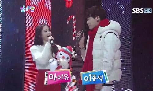IU lee jong suk snowmen