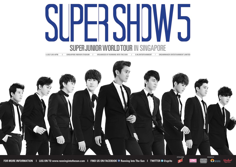 "Buy Exclusive Commemorative Tickets for ""Super Show 5"" Super Junior World Tour in Singapore"