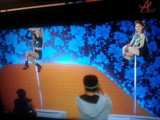 After School's Jung Ah and Ga Eun Are Very Comfortable on the Pole