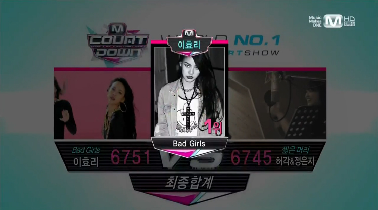 "Mnet M! Countdown 06.13.13 – Lee Hyori's Wins with ""Bad Girls"""