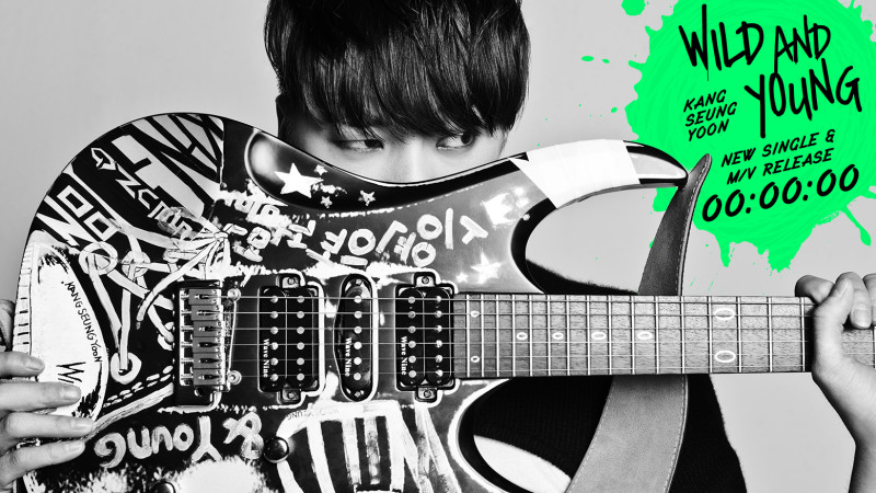 "Kang Seung Yoon is ""Wild and Young"" in Debut Music Video"