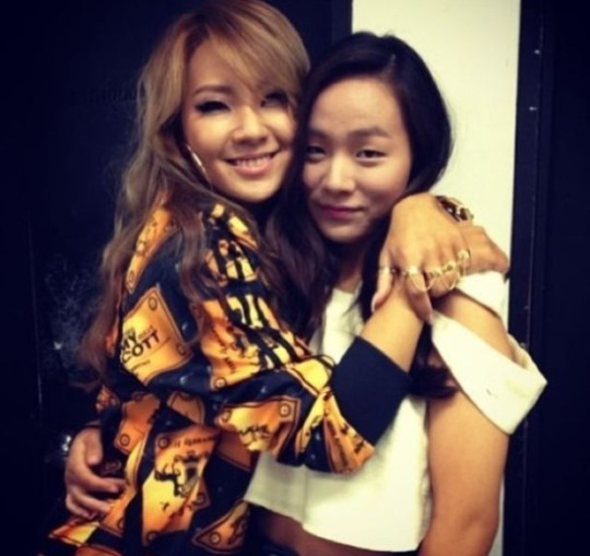 CL and little sister instagram