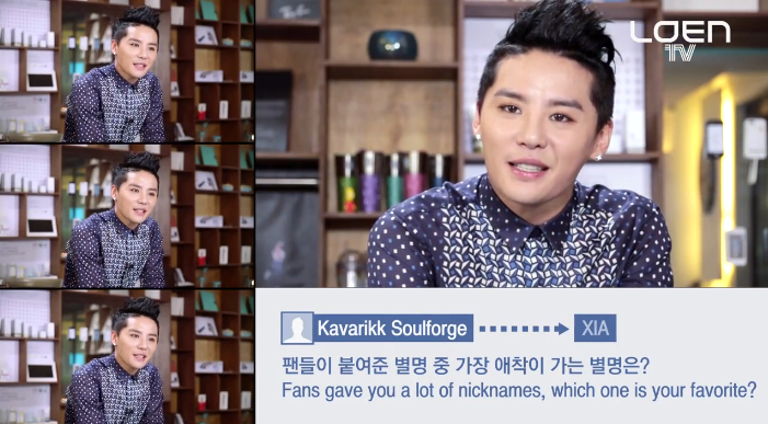 "JYJ's Junsu (XIA) Reveals What His Favorite Fan Nickname Is in  LOEN's ""Ask in a Box"" Interview"