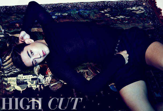 "Yoo Ah In is Red Sexy Magic in ""High Cut"" Photo Shoot"