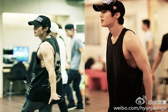 Kim Hyun Joong Looks Sexy During Practice