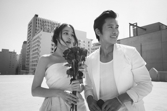 lee byung hun and lee min jung wedding pics 2