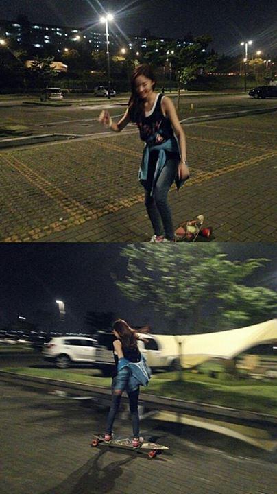 lee chung ah twitter skateboard