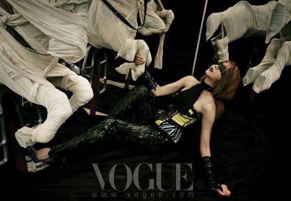 "Uee is a Mature, Mysterious, Sexy Vixen in ""Vogue Korea"" Photo Shoot"
