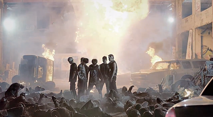 "B.A.P Turns Vigilante in Explosive ""Badman"" MV"