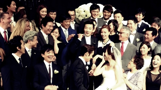 lee min jung lee byung gun wedding photo