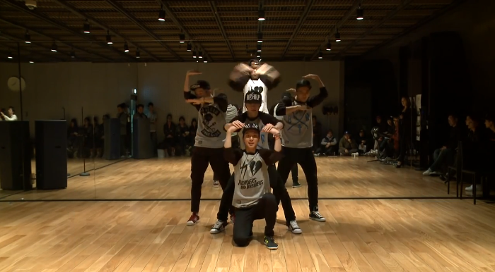 yg team a dance practice