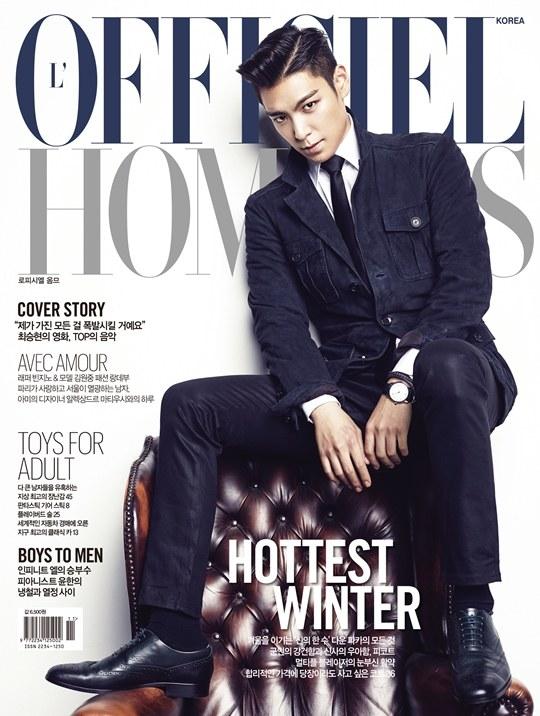 TOP's pictorial for L'Officiel Hommes
