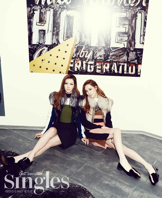 Jooyeon and Jung Ah (After School) for Singles Magazine