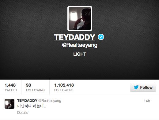 Taeyang's twitter
