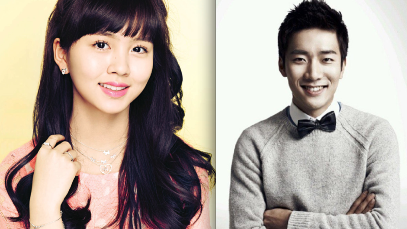 Kim So Hyun and Seo Kang Jun Smile for the Camera