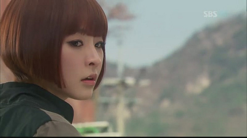 "Jung Yoo Mi as Sena in ""Rooftop Prince"""