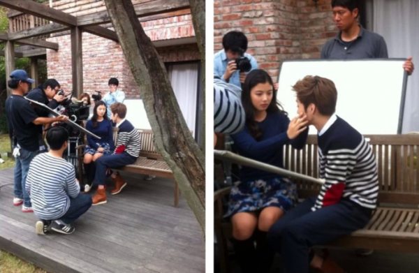 EXO's Xiumin and Actress Kim Yoo Jung Seen Filming a Music Video Together