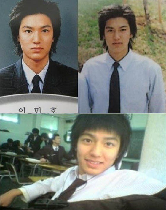 Lee Min Ho in high school and junior high school