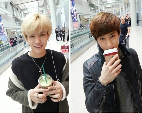 EXO's Kris and Suho Off to London to Cheer on Super Junior ...
