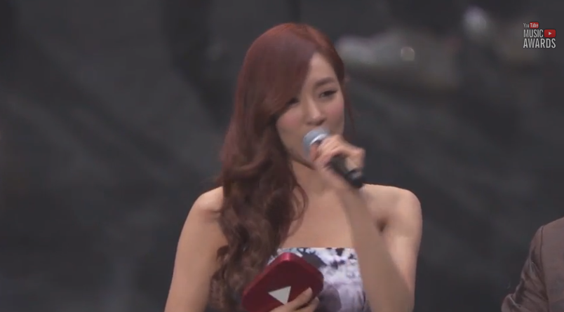 tiffany youtube music awards