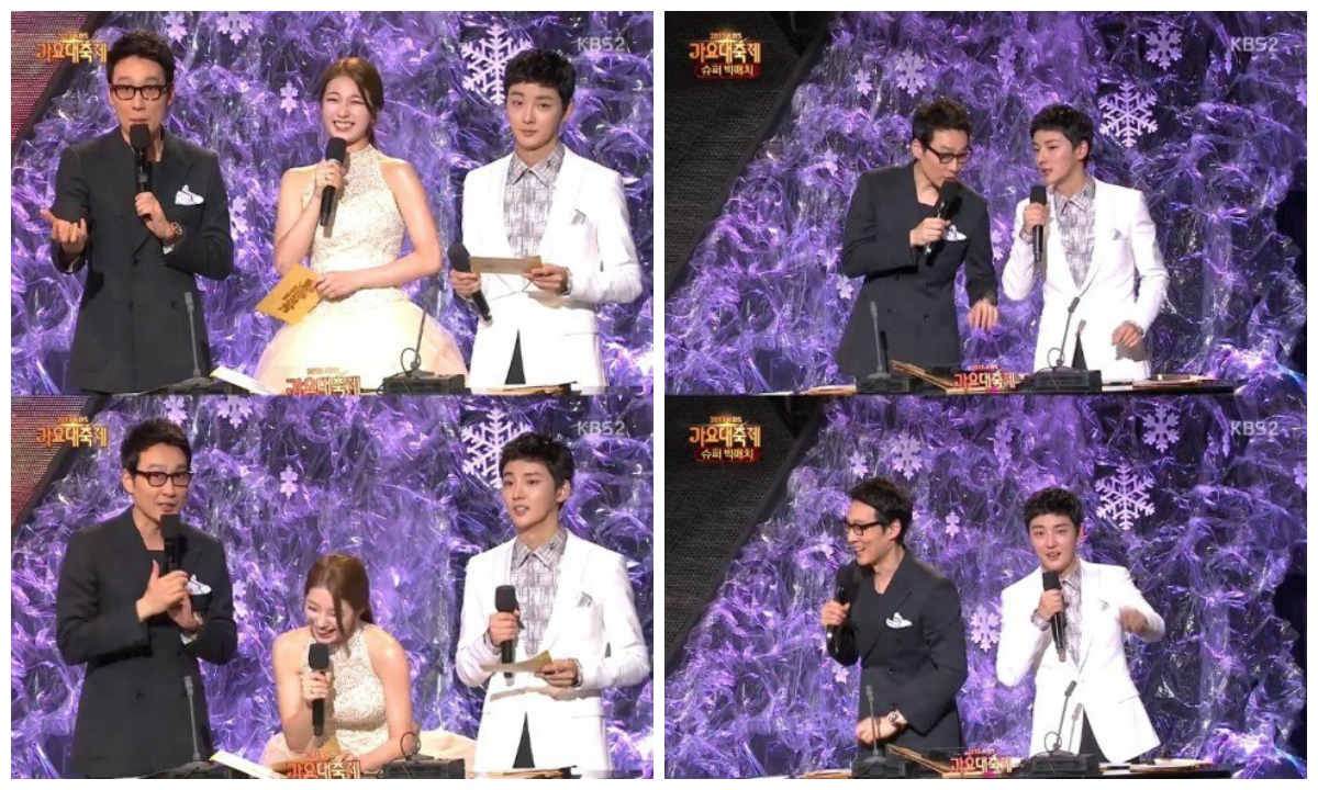 "Suzy and Yoon Shi Yoon Mistakes at ""2013 KBS Music Festival"""