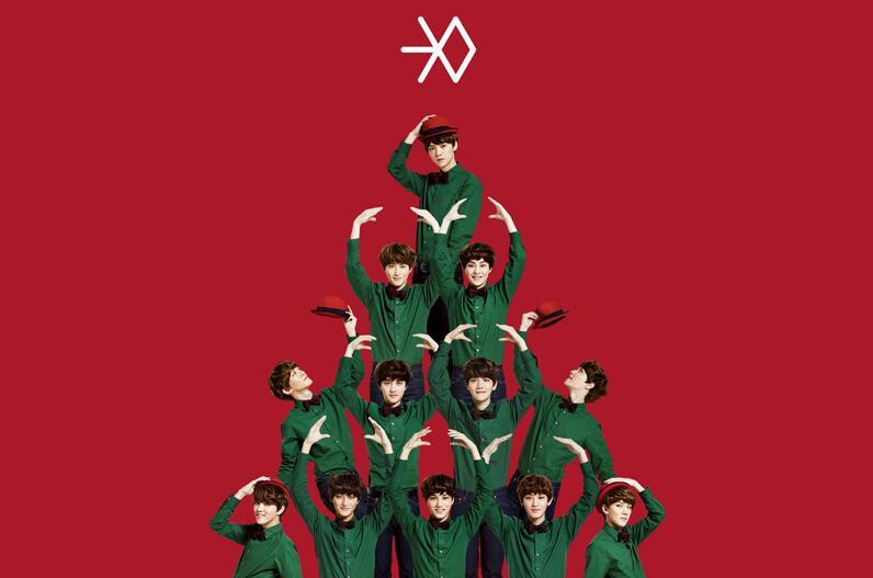 exo miracles in dec red bg
