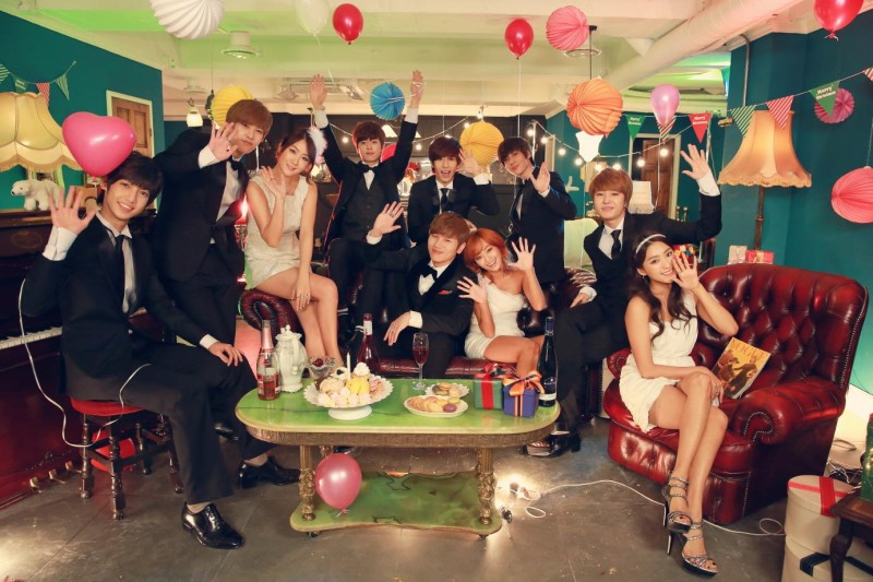 Starship Planet Releases BTS Photos of Sistar, Boyfriend, and K.Will During Holiday MV Shoot