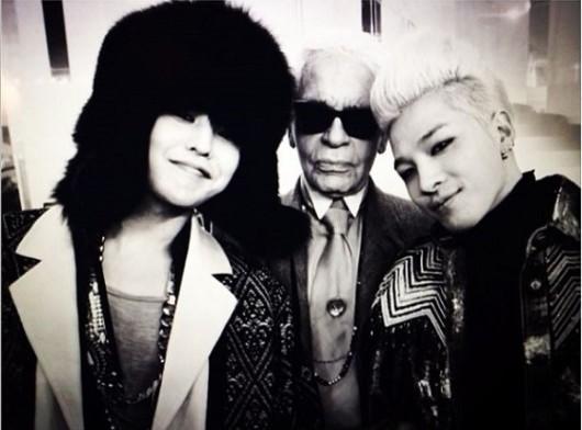 G-Dragon, Taeyang, Karl Lagerfield