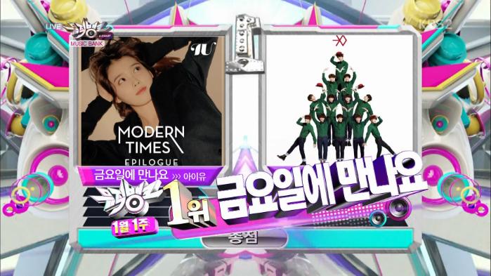 "IU - ""Friday"" wins Music Bank"