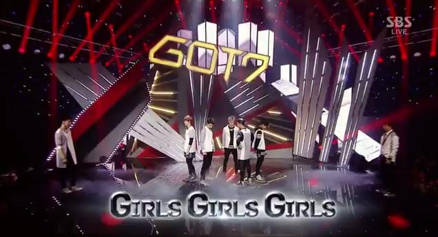 got7 girls girls girls inkigayo