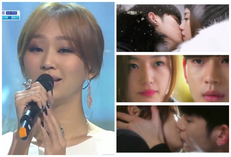 "Hyorin Performs ""Hello, Goodbye"" (""Man from the Stars"" OST) on SBS Inkigayo 01.26.14"