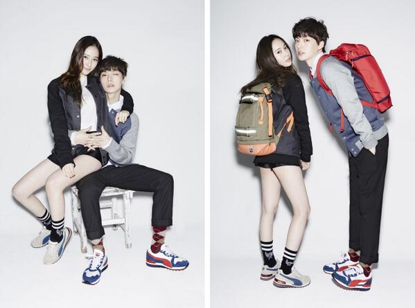 "f(x)'s Krystal Is Youthful and Urban Chic with ""Man from the Stars"" Ahn Jae Hyun in Pictorial"