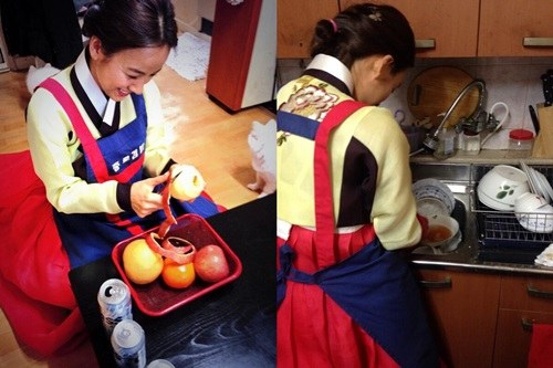 Lee Hyori as a good daughter-in-law