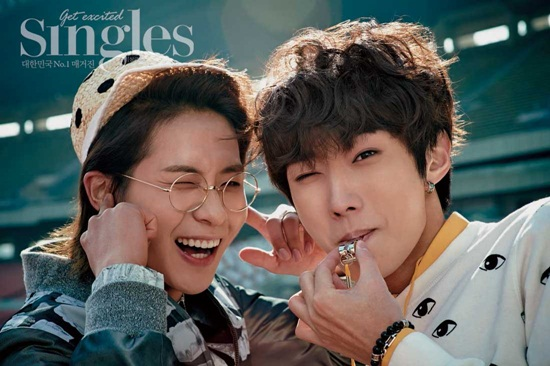 "B1A4's CNU and Jinyoung Look Cute on the Track in ""Singles"" Pictorial"