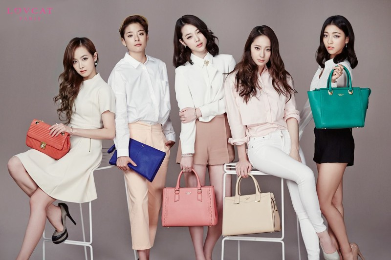 f(x) is Stylish for Spring with Pastel Colored Purses for LovCat Pictorial