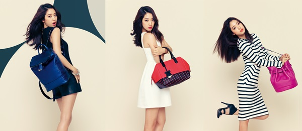 Lovely Park Shin Hye Models Bruno Magli's 2014 SS Disney Purse Collection in Pictorial