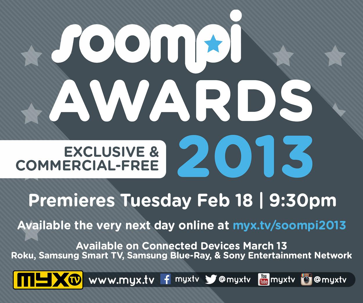 Myx TV - Soompi Awards 2013
