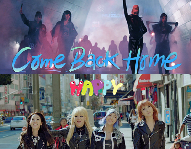 "2NE1 Is ""Happy"" to ""Come Back Home"" in 2 New Music Videos"