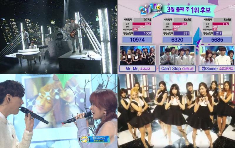 cnblue soyu girls generation inkigayo soompi