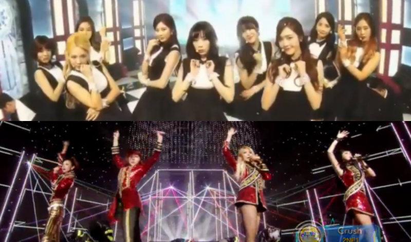 girls generation 2ne1 inkigayo soompi
