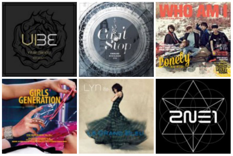 Weekly K-Pop Music Chart 2014 – March Week 4