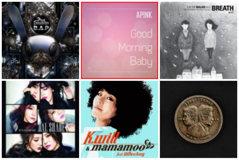 Weekly K-Pop Music Chart 2014 – March Week 1