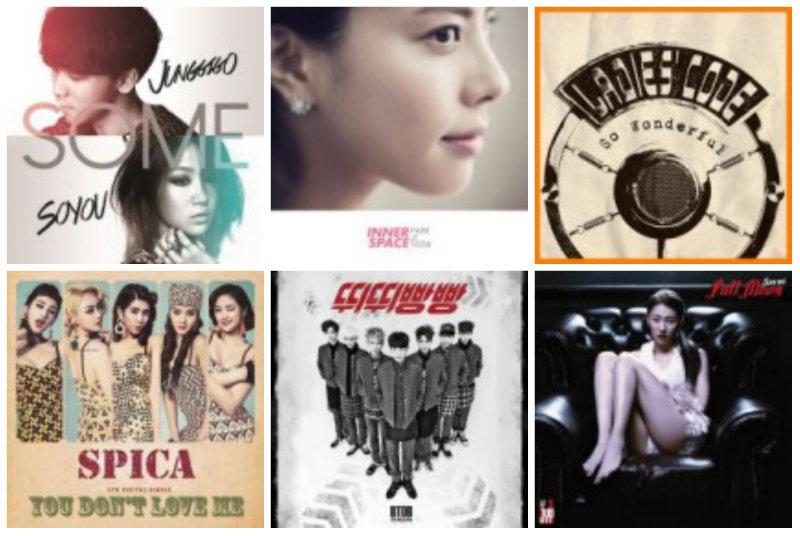 soompi weekly kpop music chart march week 2