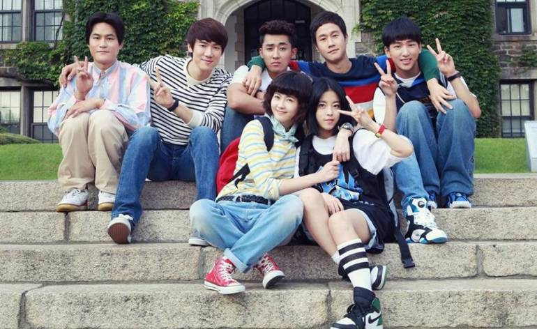 "The cast of ""Reply 1994"""