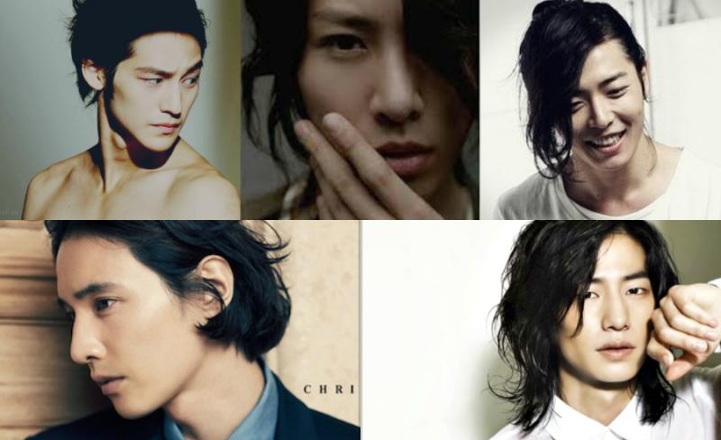 12 Male Korean Stars that Rock Long Locks