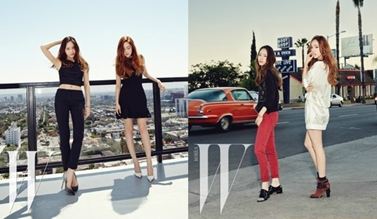 """""""Jung Sisters"""" Jessica and Krystal Enjoy an LA Vacation for W Magazine"""